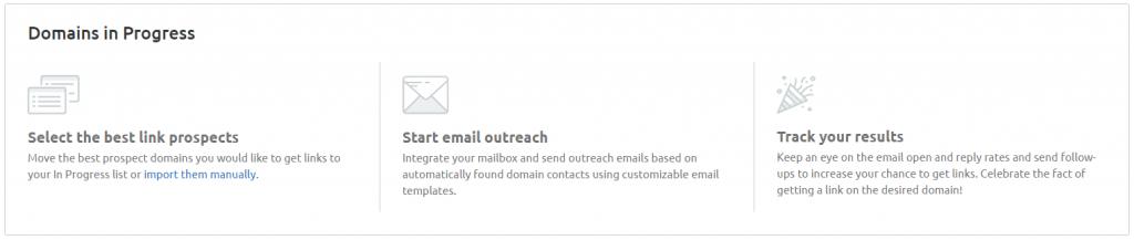 semrush link outreach