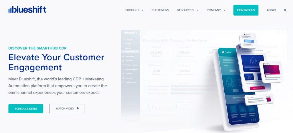 blueshift homepage