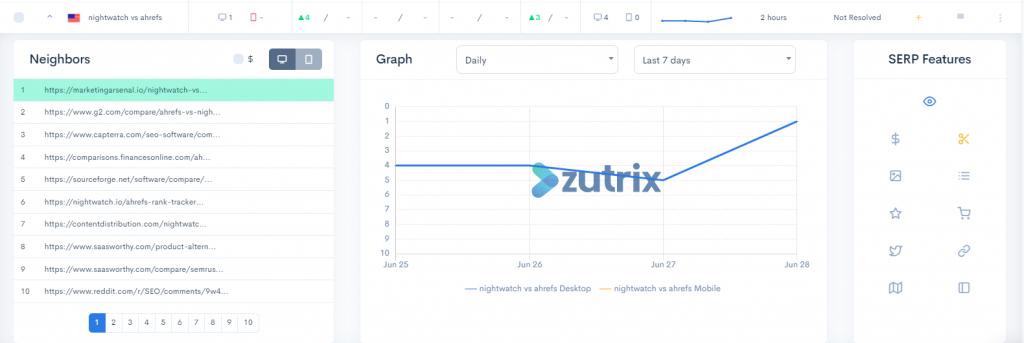 zutrix ui screenshot