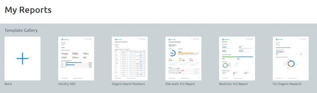 semrush report templates