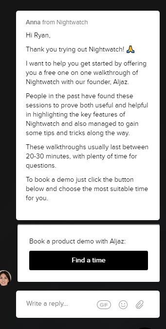 nightwatch demo request